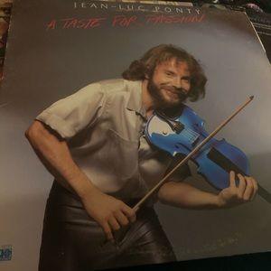 JEAN-LUC PONTY 1979 vinyl lp A TASTE FOR PASSION